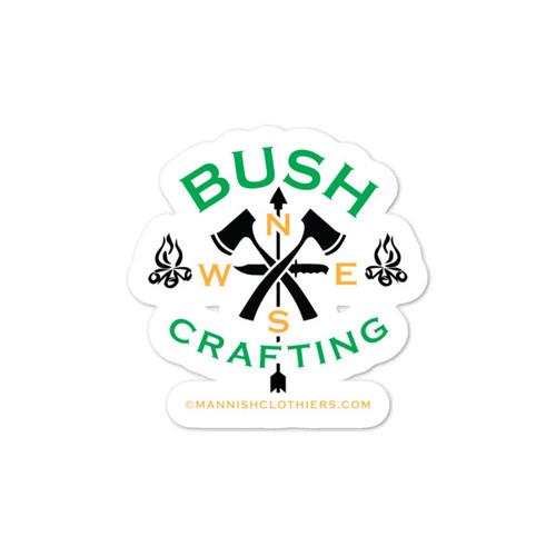 Bushcrafting, Vinyl Sticker
