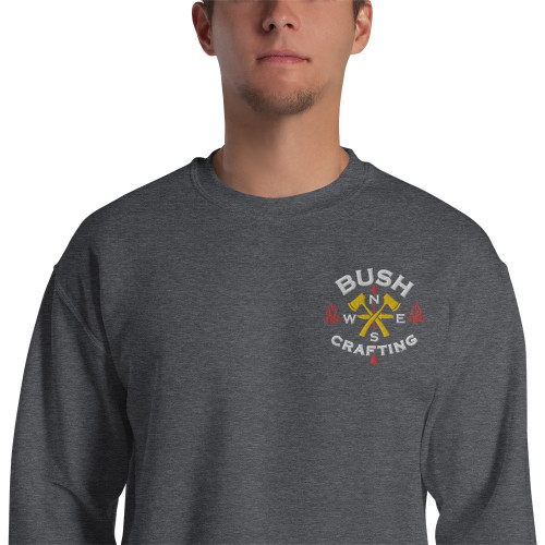 Bushcrafting, Embroidered, Sweatshirt