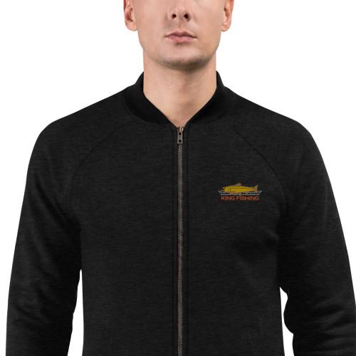 King Fishing, Embroidered, Bomber Jacket