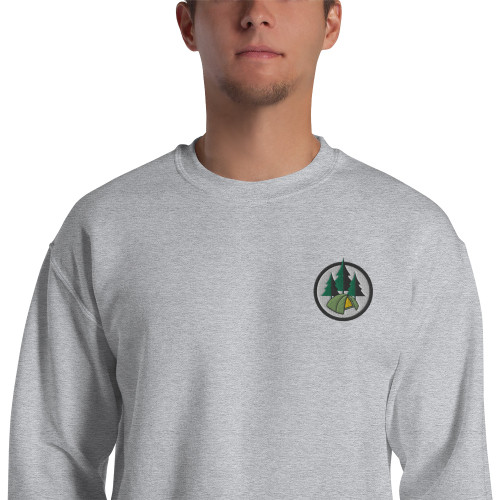 Camping, Embroidered, Sweatshirt