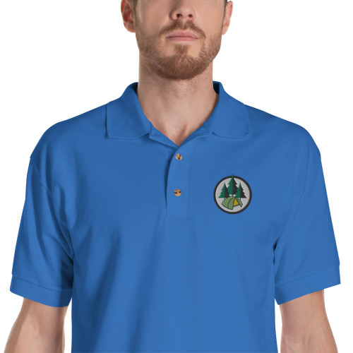Camping, Embroidered, Polo Shirt