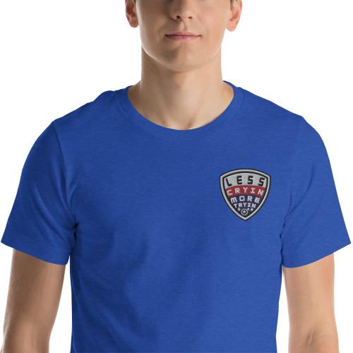 Less Cryin More Tryin, America, Short-Sleeve T-Shirt 2020