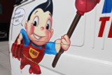 Plumber to the Rescue Cast Vinyl Contour Cut