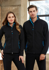 Geneva Jacket (Black/Cyan)