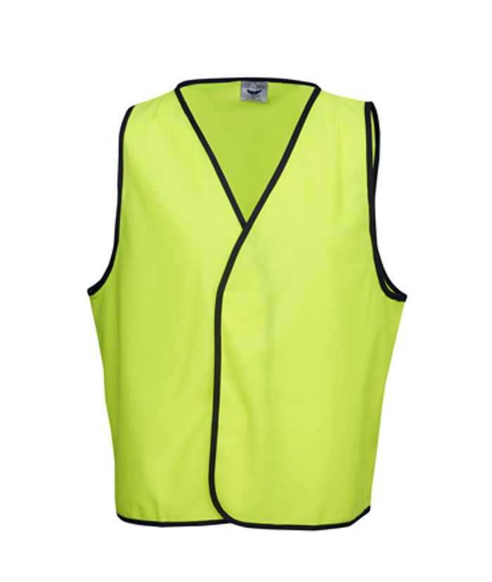 Safety Vest - Fluoro Yellow/Navy (Front)