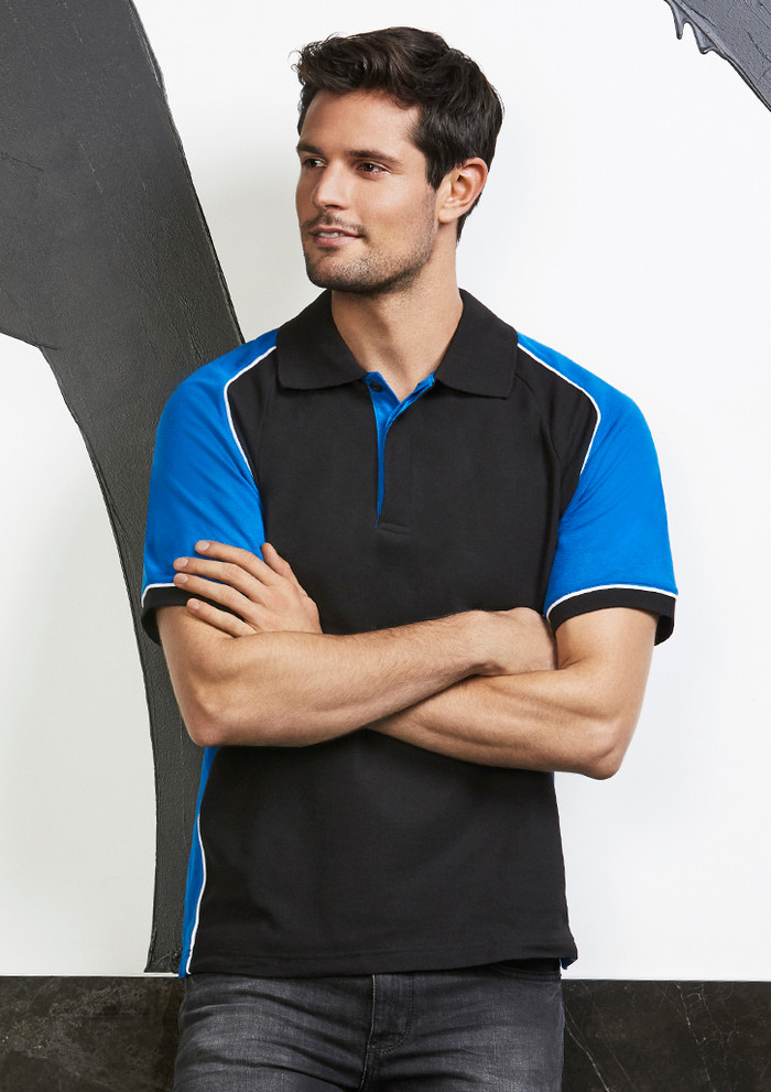 Nitro Polo Shirt (Black/Royal Blue)
