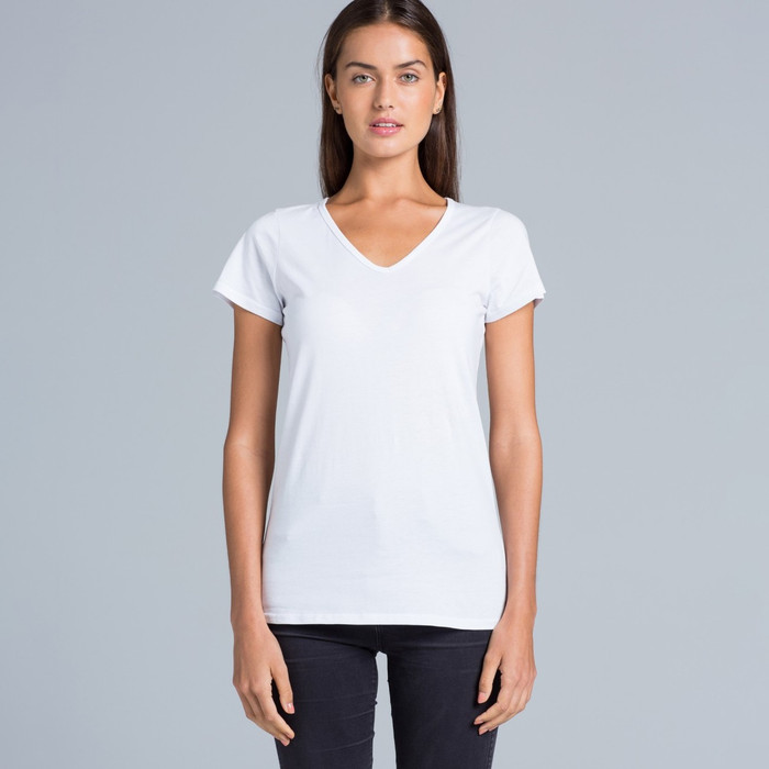 Ladies Bevel V-Neck T-Shirt