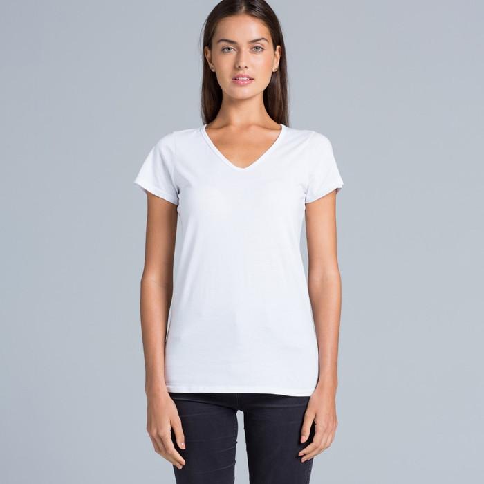 Ladies Bevel V-Neck T-Shirt