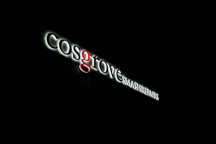 Cosgrove 3D LED Side Lit Sign