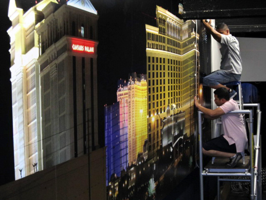 City Nightclub Standard Wall Graphics with Matte Laminate