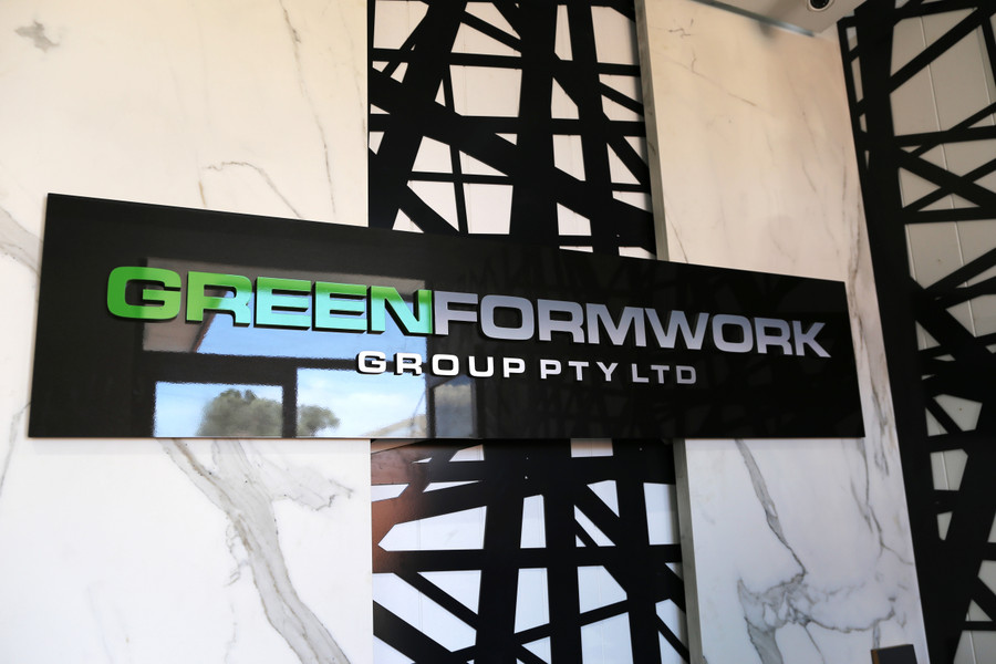 Greenform Acrylic Board with 3D Logo