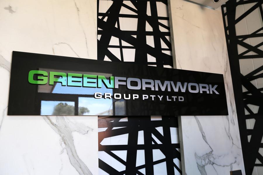 Greenform Acrylic Board with 3D Logo