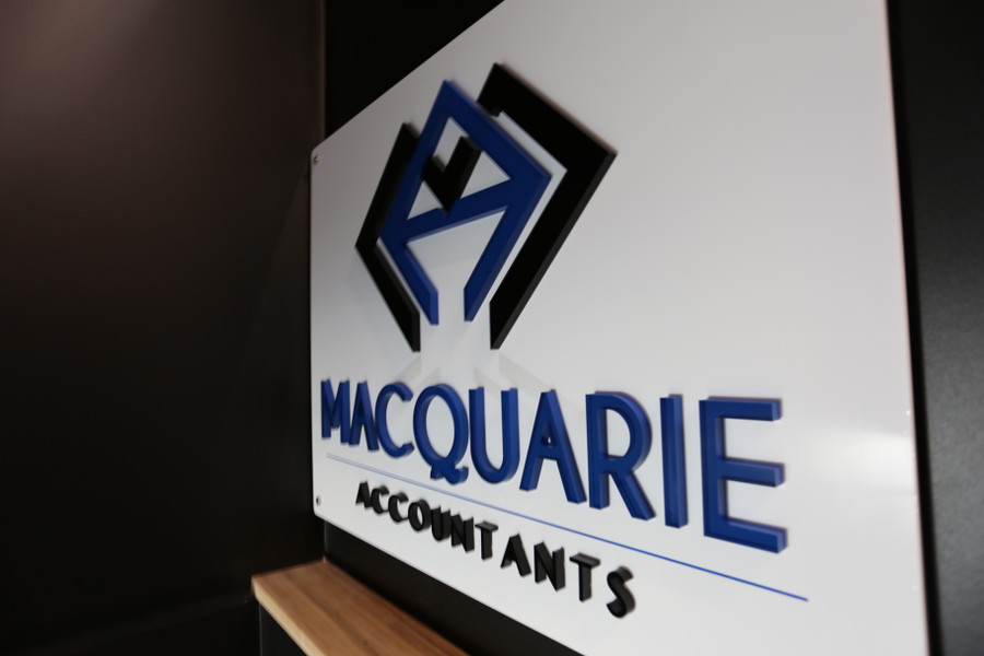 3D Acrylic Logo on White Board