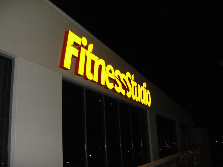 Fitness Studio 3D Front Lit Sign
