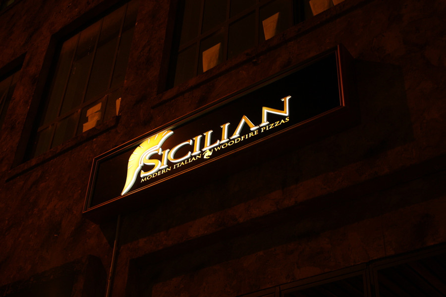 Sicilian Light Box with Laser Cut 3D Logo