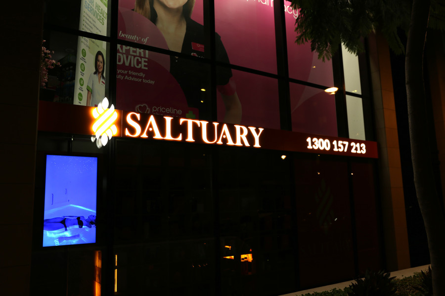 Saltuary Front and Side Lighting Shop Front Sign
