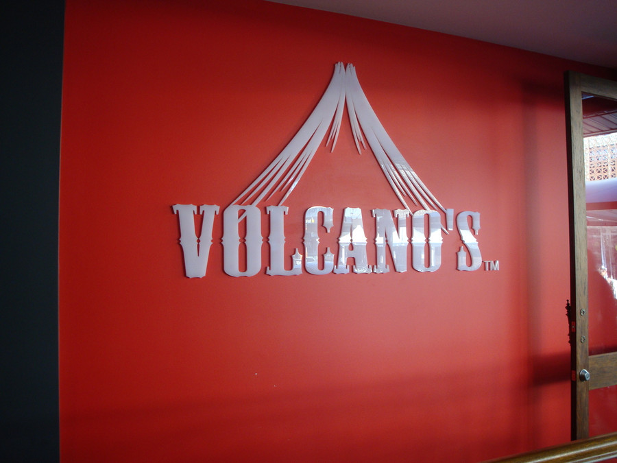 Laser Cut Volcano's 3D Wall Reception Sign