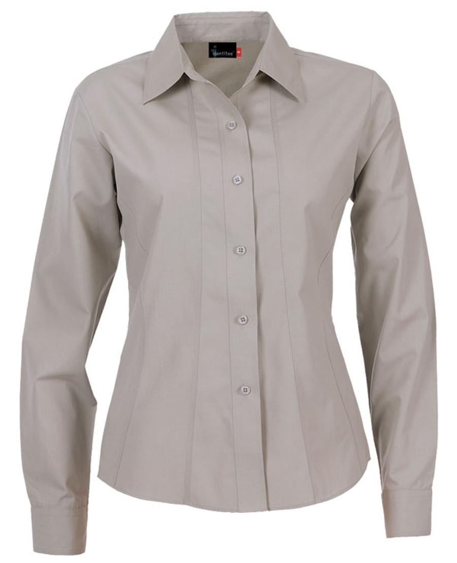 Ladies Aston L/S Sleeves Business Shirt (Stone)