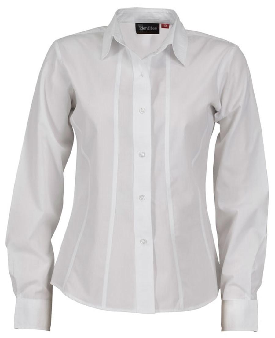 Ladies Aston L/S Sleeves Business Shirt (White)
