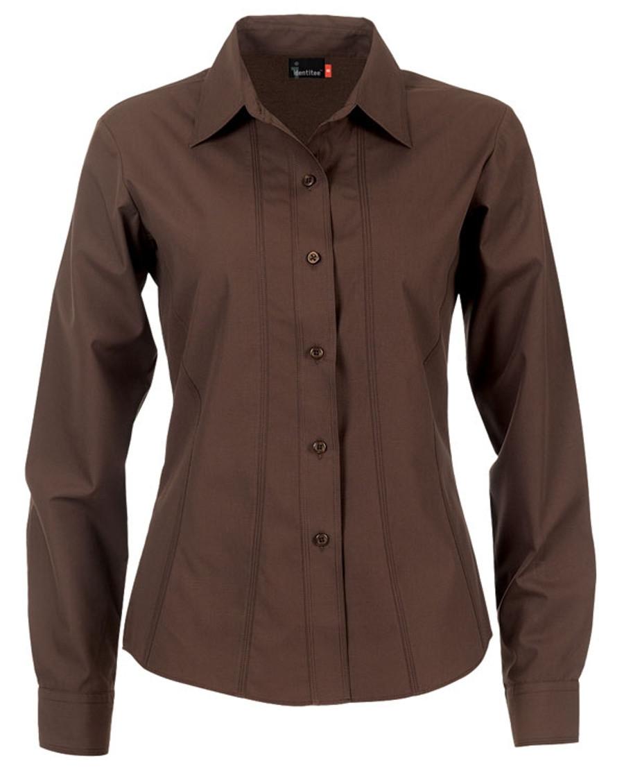 Ladies Aston L/S Sleeves Business Shirt (Chocolate)