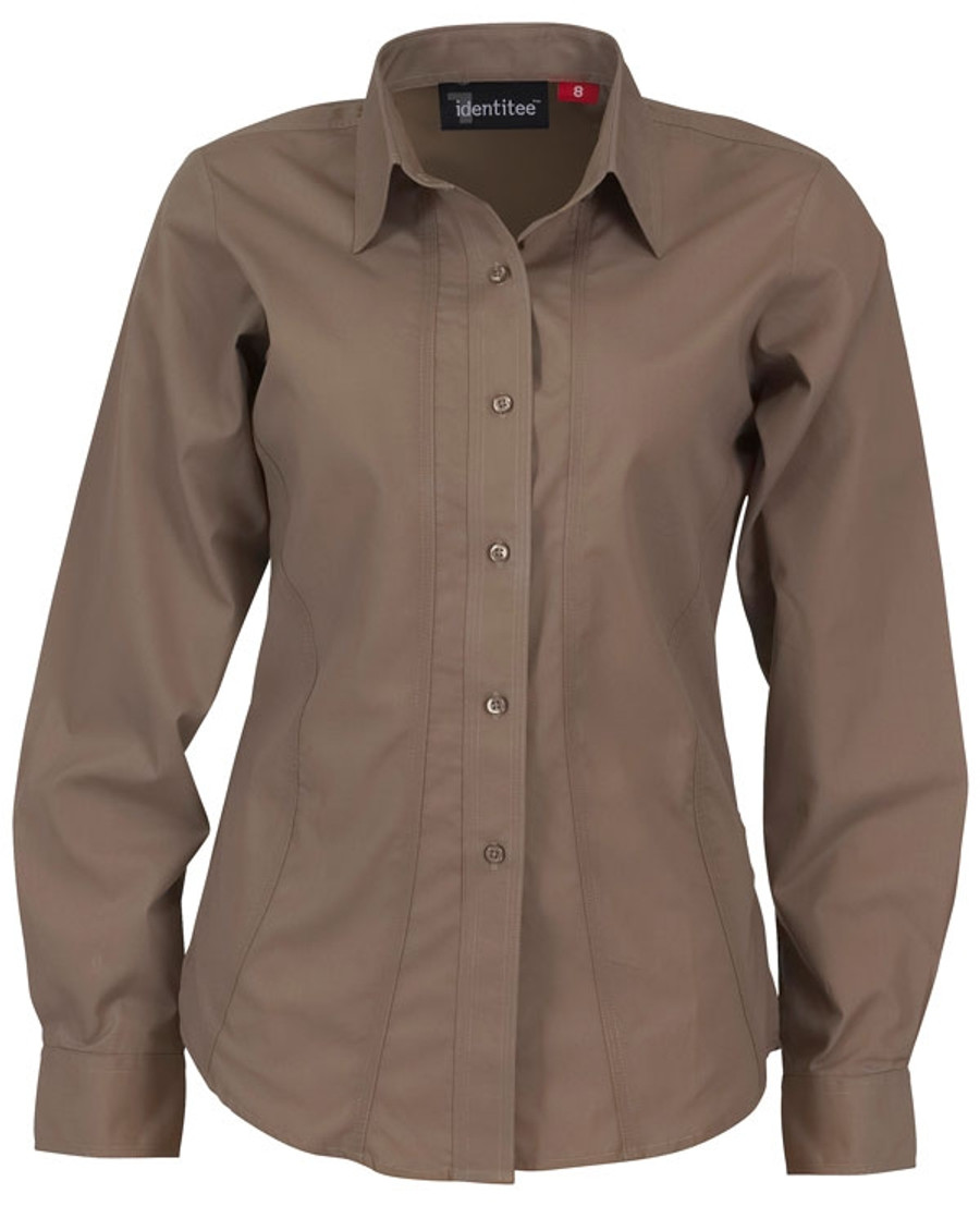 Ladies Aston L/S Sleeves Business Shirt (Mocha)