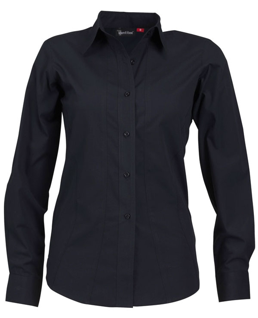 Ladies Aston L/S Sleeves Business Shirt (Ink)