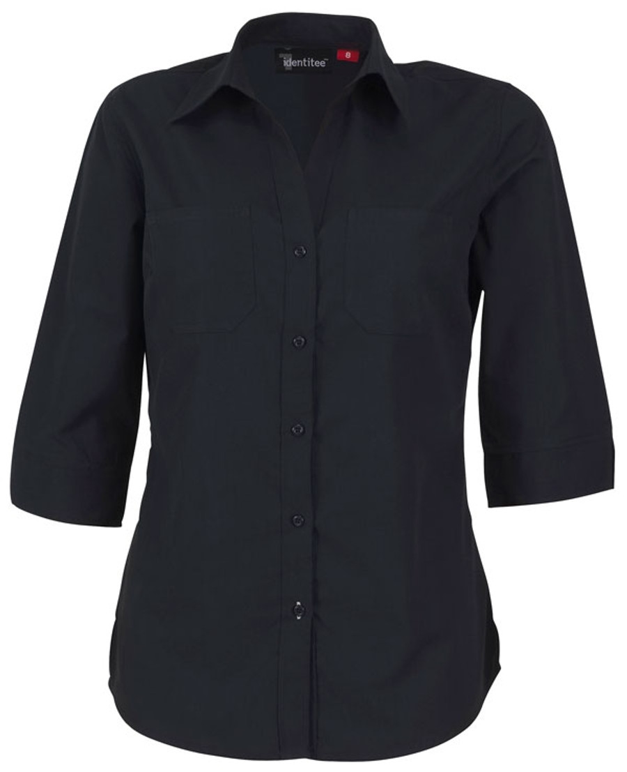 Ladies Harley 3/4 Sleeves Business Shirt (Ink)