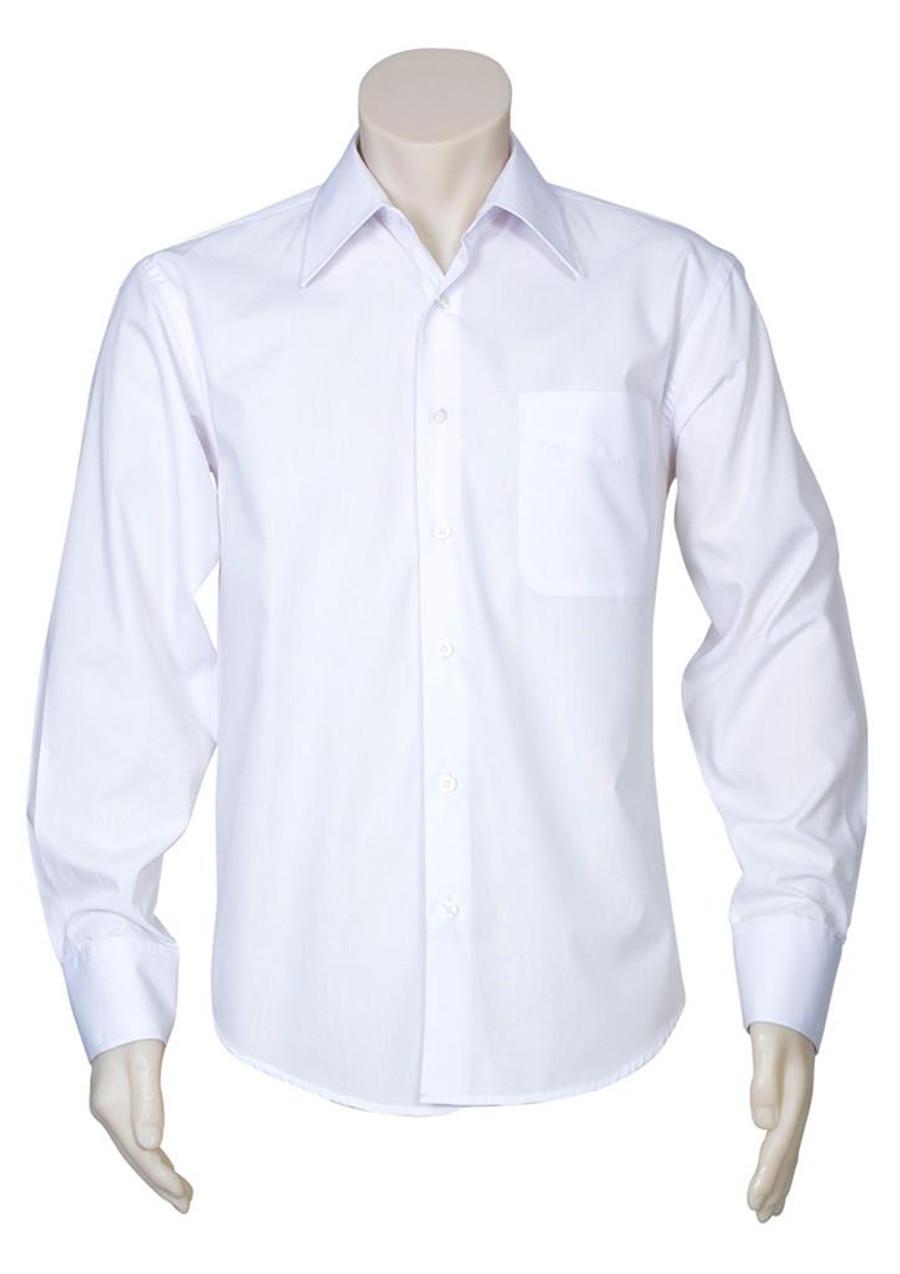 Mens L/S Metro Business Shirt (White)