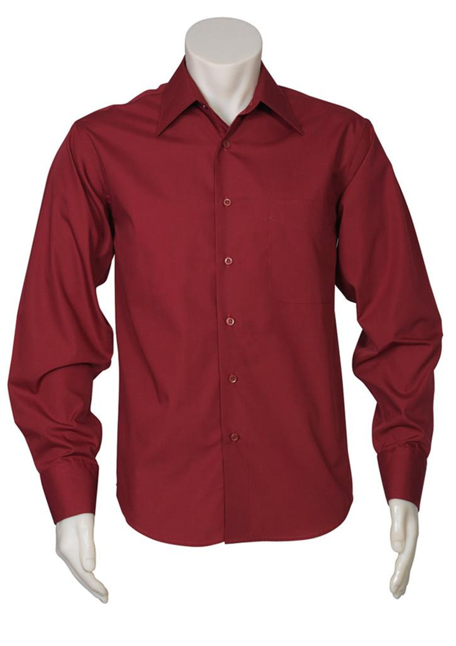 Mens L/S Metro Business Shirt (Cherry)