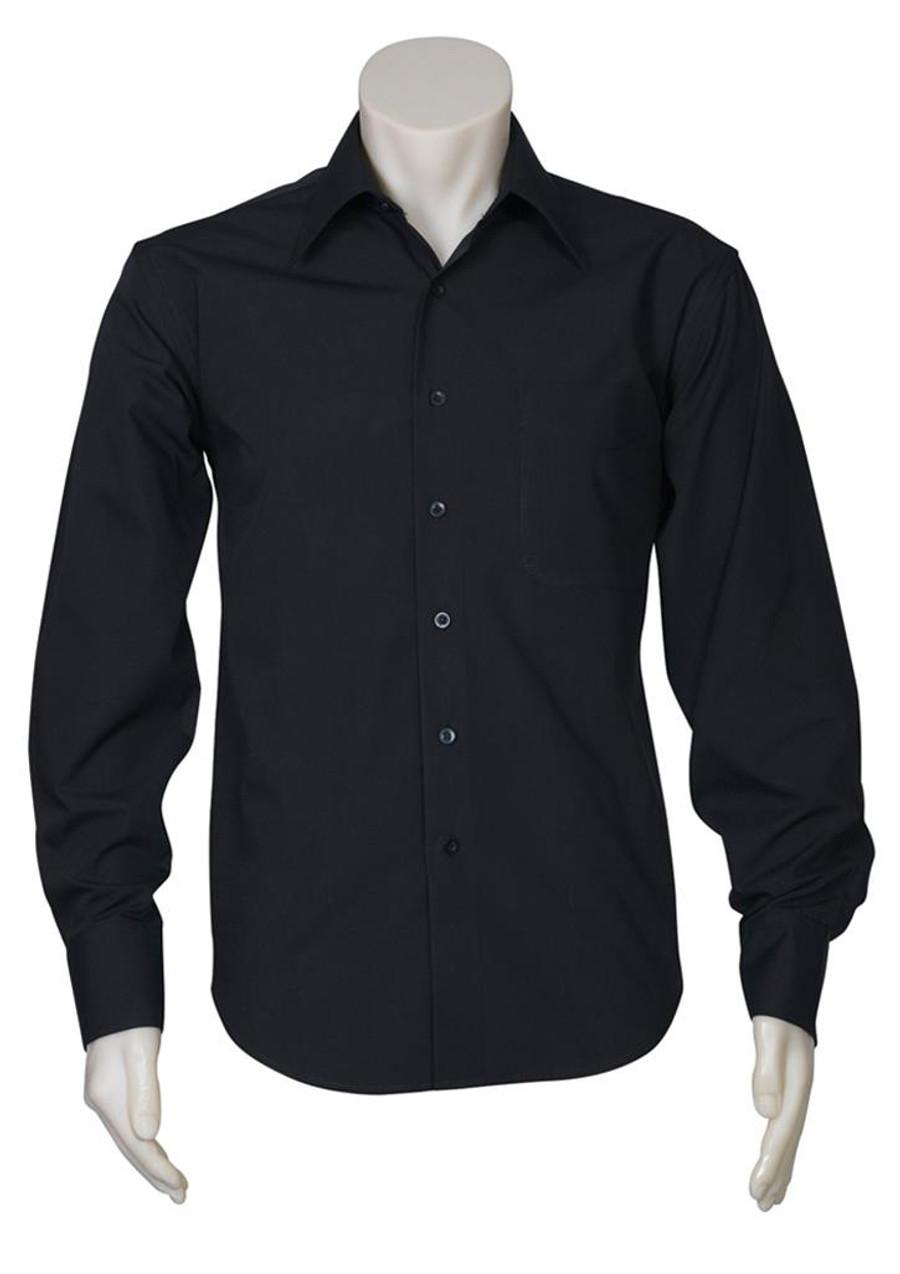 Mens L/S Metro Business Shirt (Black)