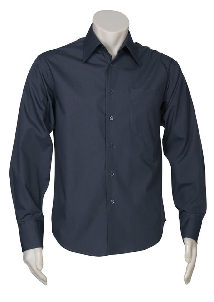Mens L/S Metro Business Shirt (Charcoal)