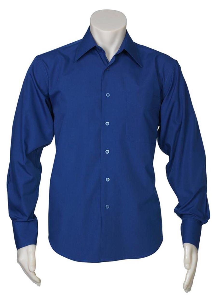 Mens L/S Metro Business Shirt (Royal)