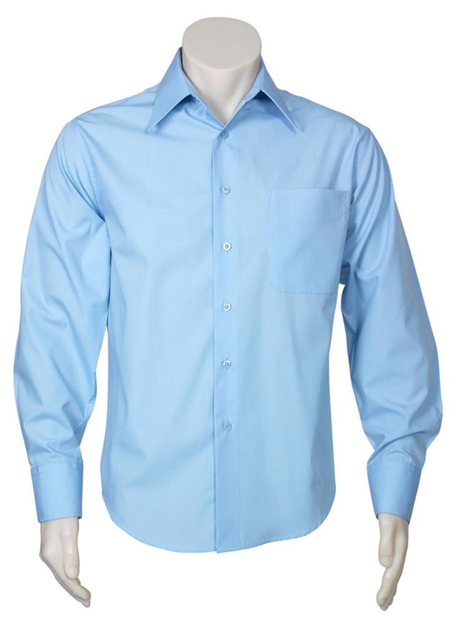 Mens L/S Metro Business Shirt (Sky)