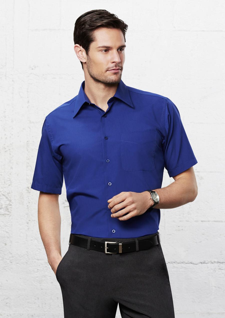 Mens S/S Metro Business Shirt (Royal)