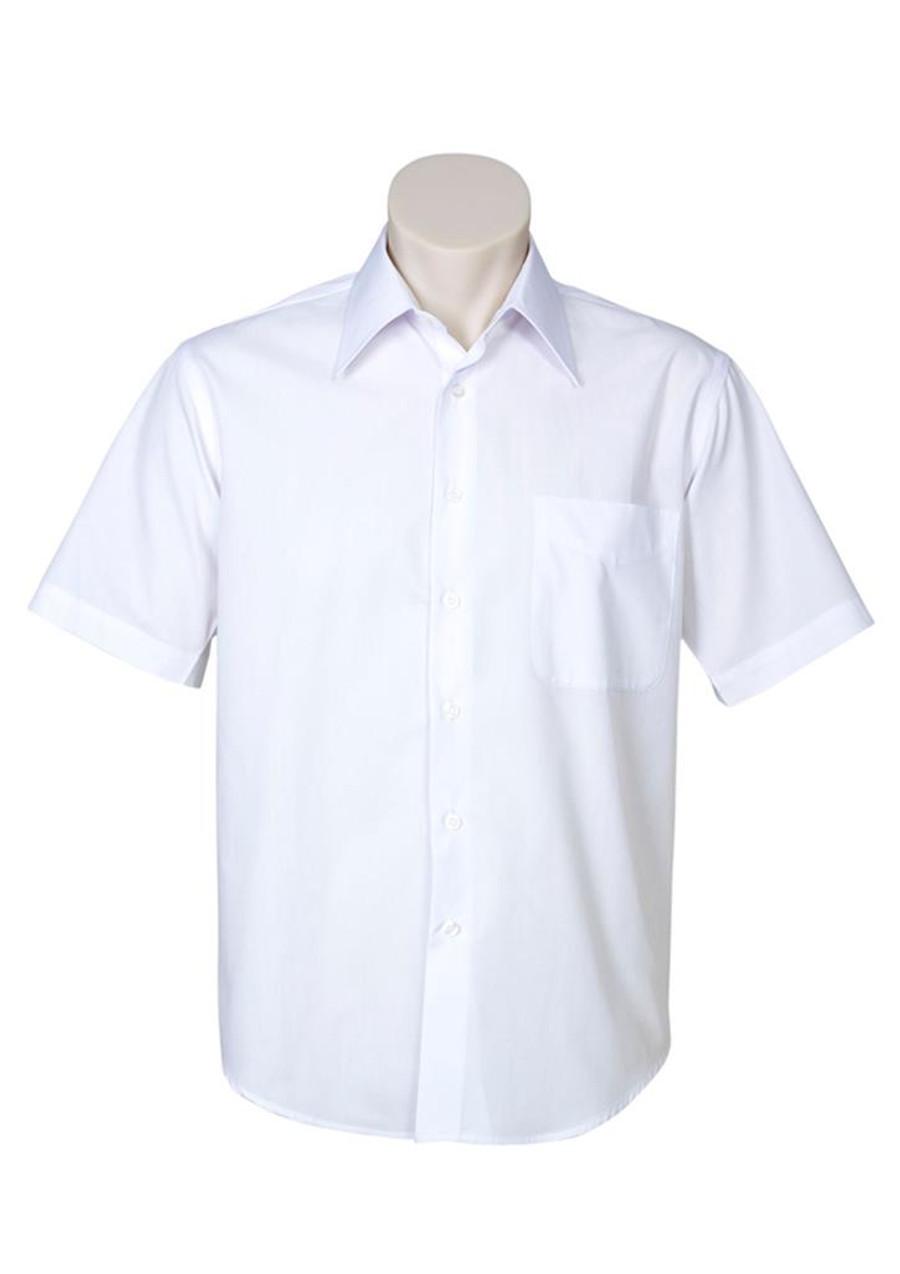 Mens S/S Metro Business Shirt (White)