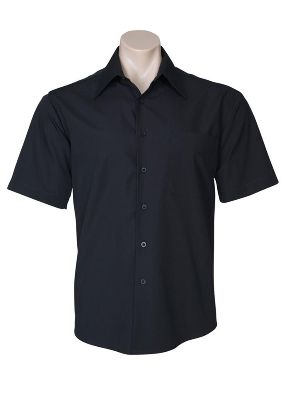 Mens S/S Metro Business Shirt (Black)