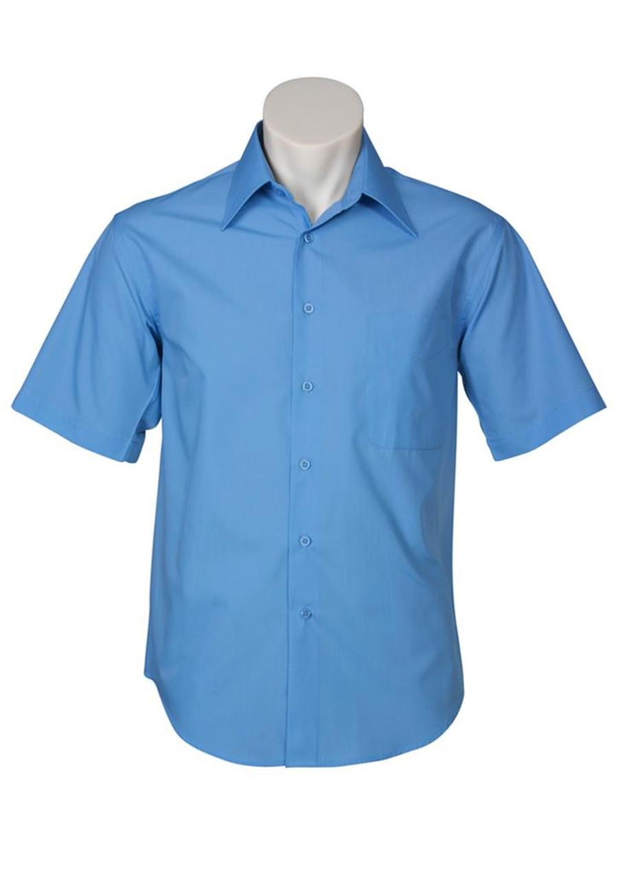 Mens S/S Metro Business Shirt (Mid Blue)