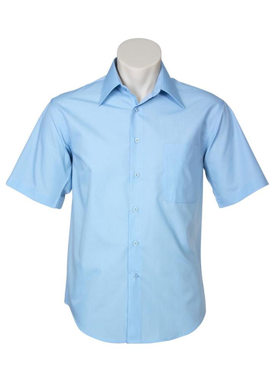 Mens S/S Metro Business Shirt (Sky)
