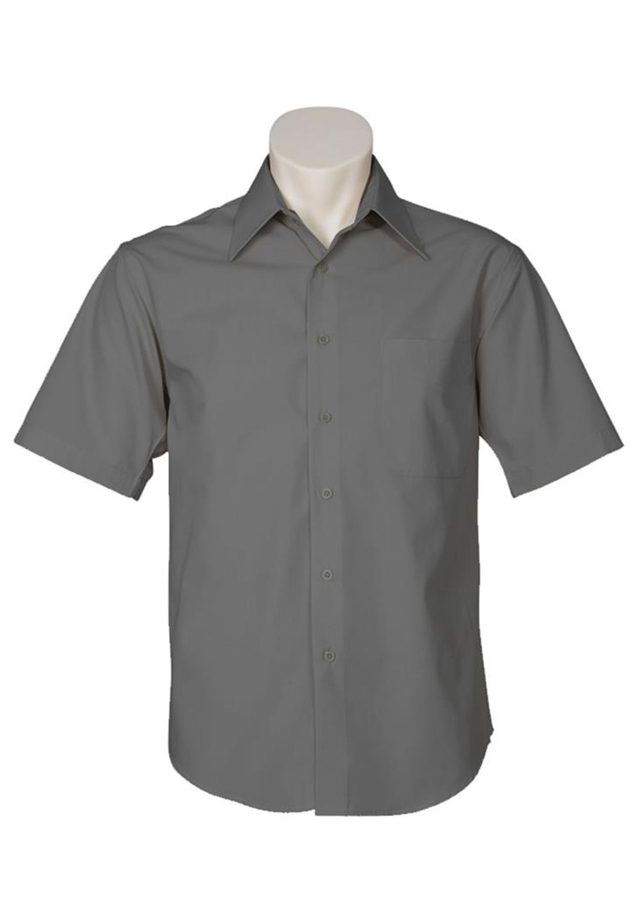 Mens S/S Metro Business Shirt (Charcoal)