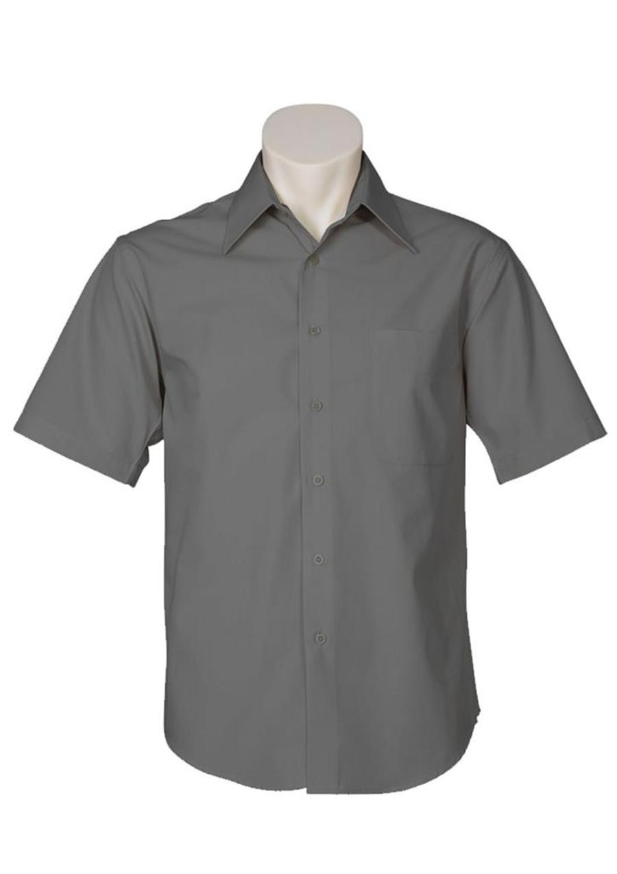 Mens S/S Metro Business Shirt (Charcoal)