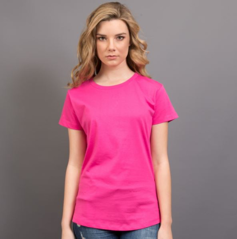 Ladies Surf T-Shirt  (Hot Pink)
