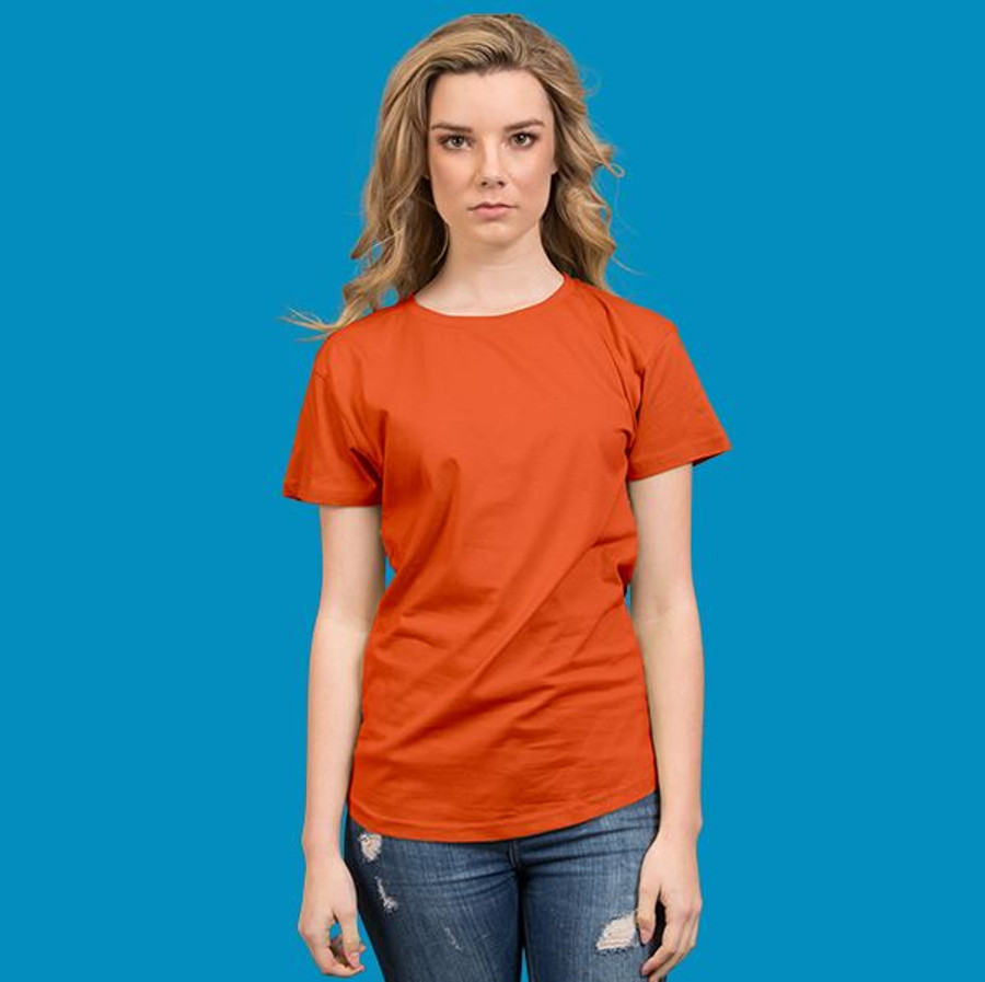 Ladies Surf T-Shirt  (Orange)