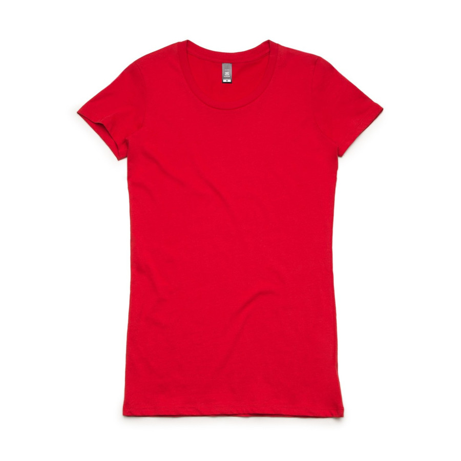 Ladies Wafer T-Shirt  (Red)