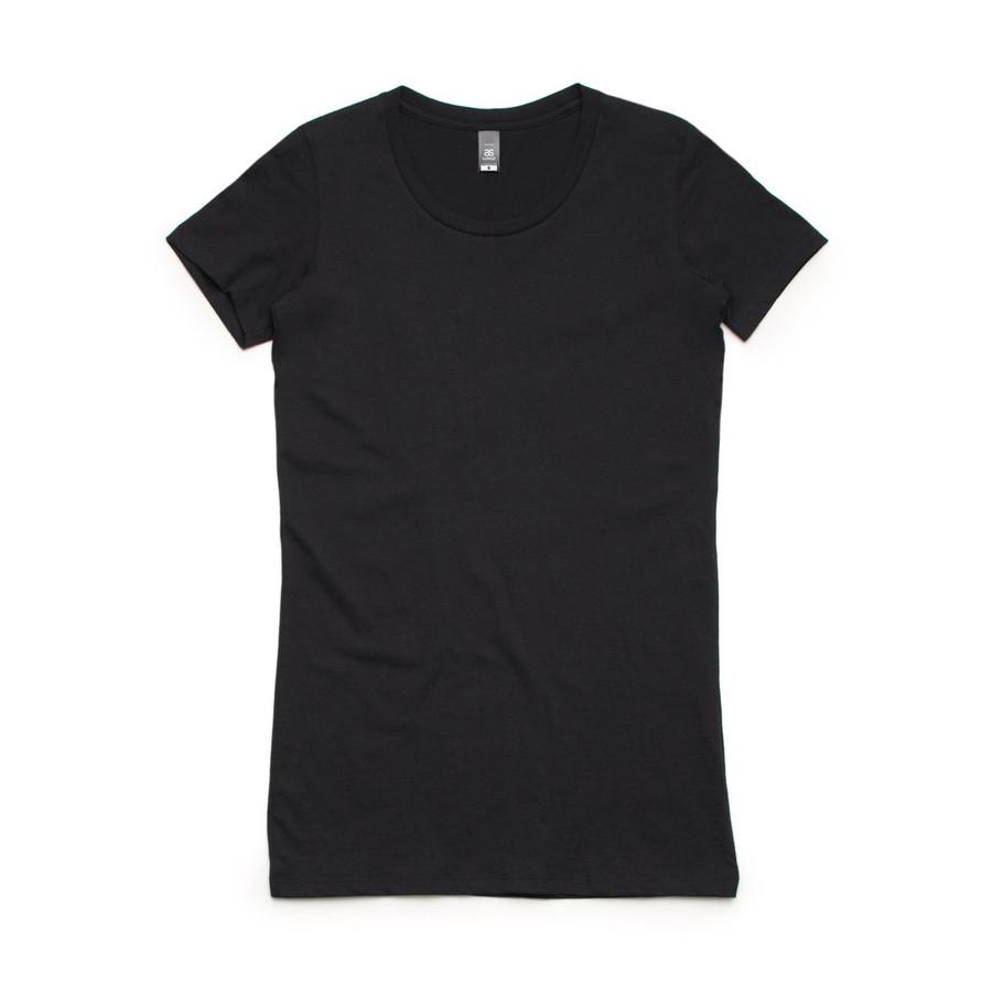 Ladies Wafer T-Shirt  (Black)