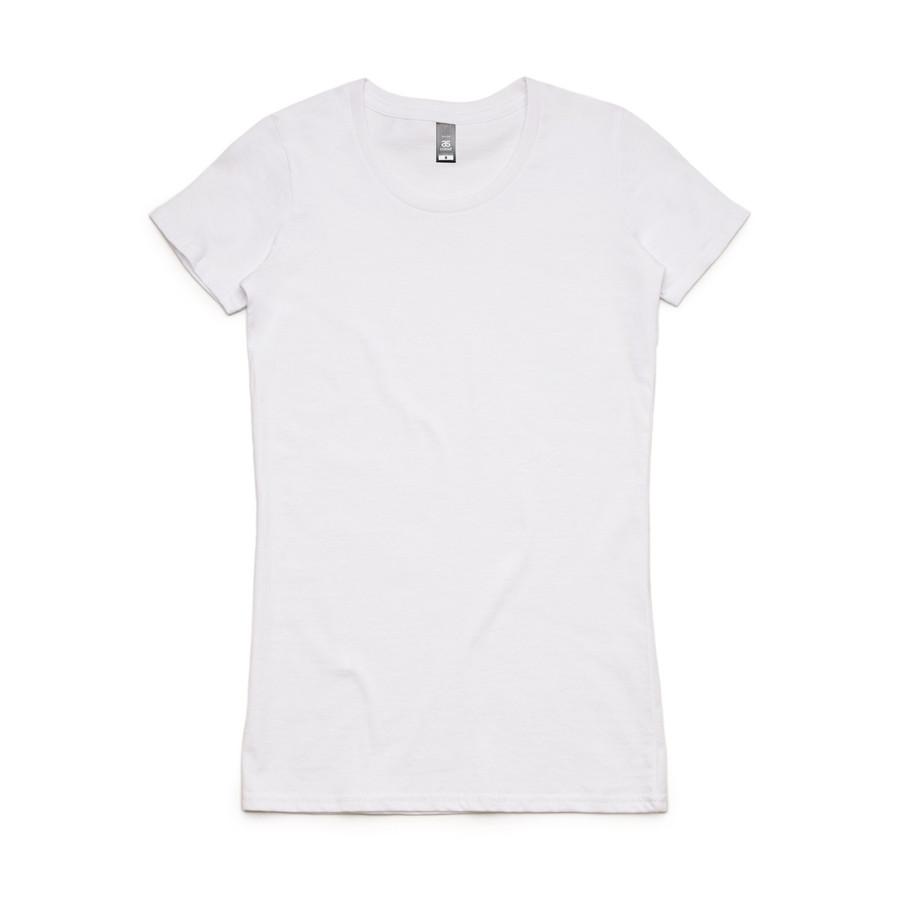 Ladies Wafer T-Shirt  (White)