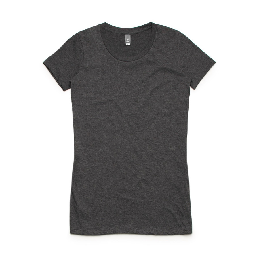 Ladies Wafer T-Shirt  (Asphalt Marle)