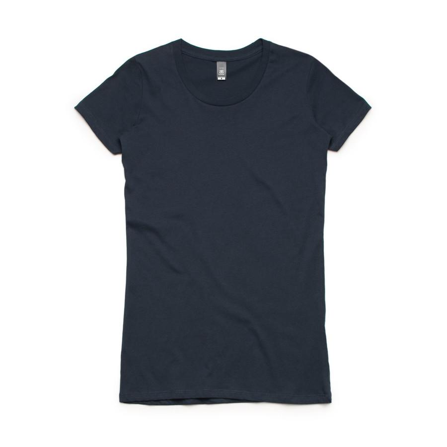 Ladies Wafer T-Shirt  (Navy)