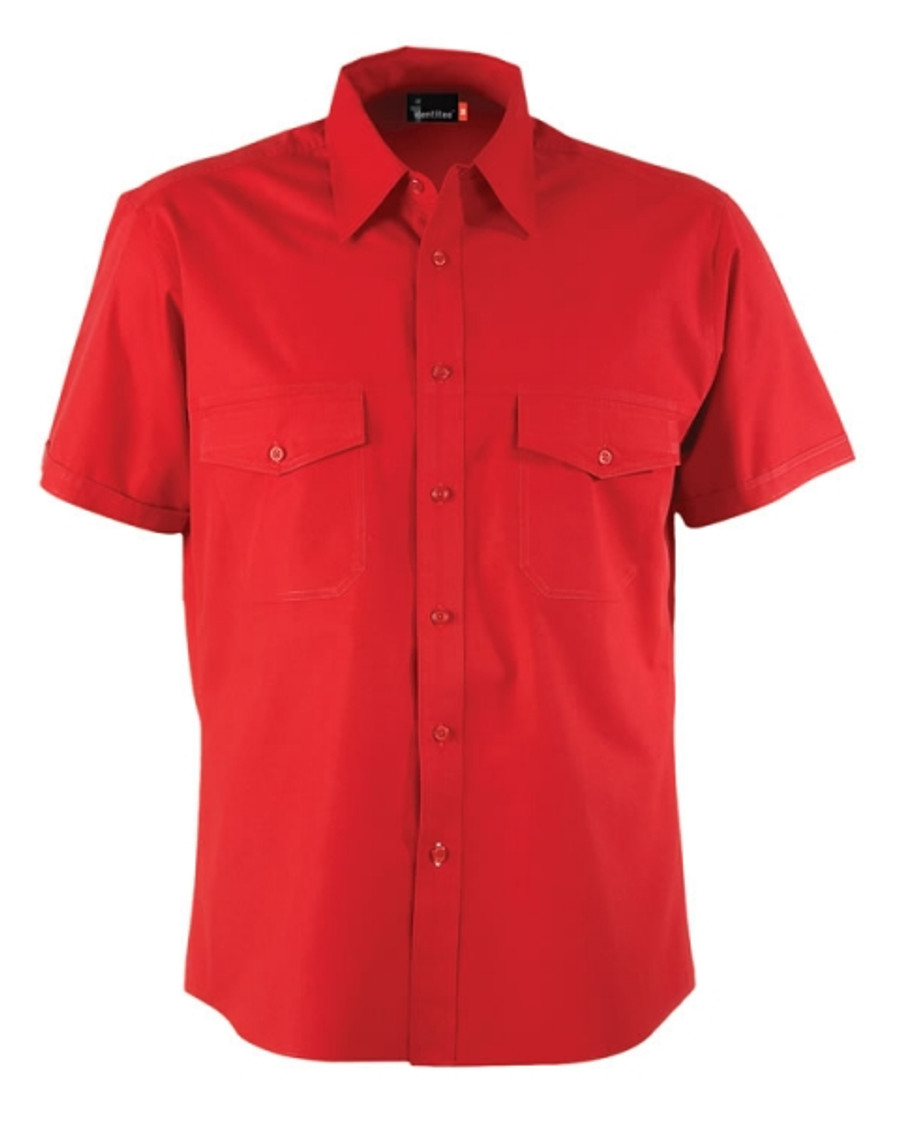 Mens Harley Business Shirt (Red)