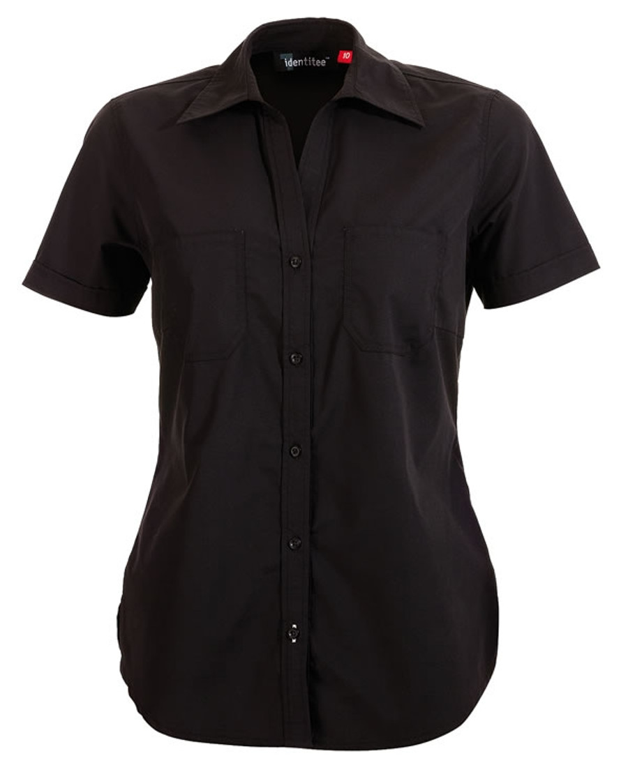 Ladies Harley Business Shirt  (Black)
