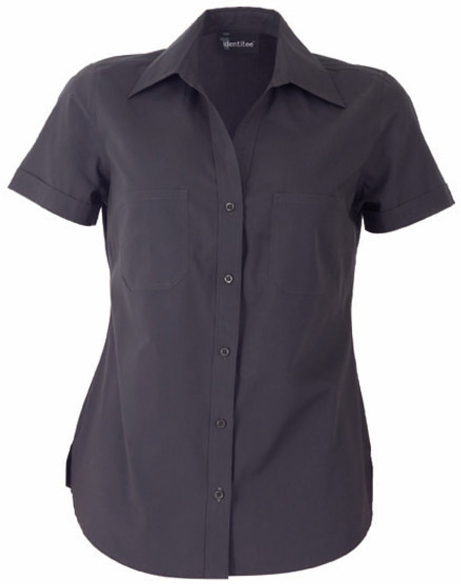 Ladies Harley Business Shirt  (Gun Metal)